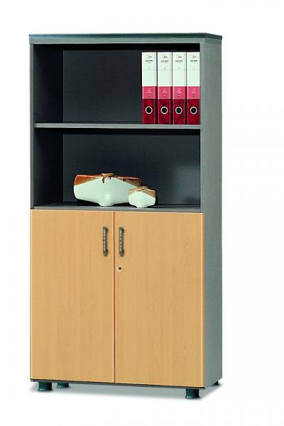 bookcase with 4-stage(low door type)