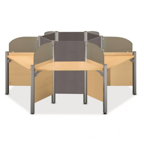 lecture desk for six(partition type, glass type)