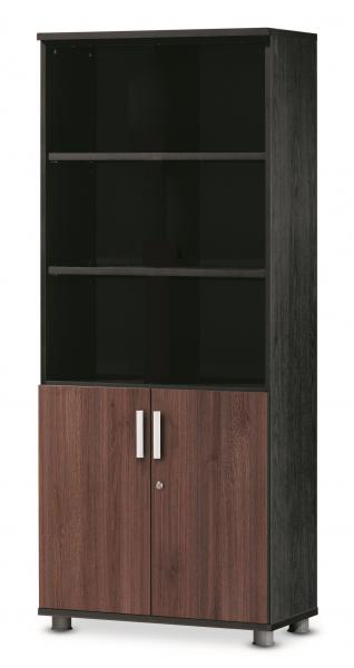 Combi bookcase with 5-stage