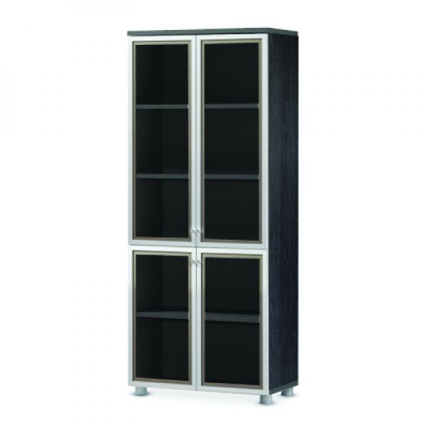 Combi bookcase with 5-stage (glass type)