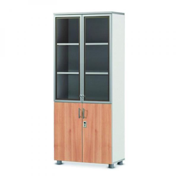 Combi bookcase with 5-stage[dial key]